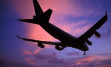 747 Jumbo Jet landing at Heathrow UK